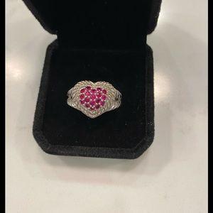 Judith Ripka Ruby Heart Ring